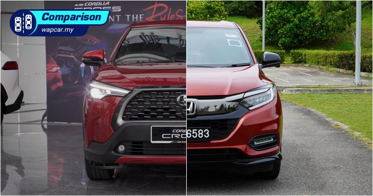 2021 Toyota Corolla Cross vs Honda HR-V – add RM 6k for a bigger car, should you? 01