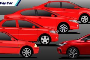 Model Panas - Evolusi 5 generasi Honda City di Malaysia