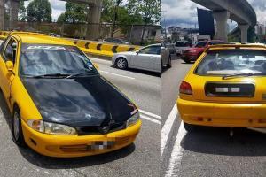 Proton Satria kuning cuba rempuh polis, satu das tembakan terpaksa dilepaskan!