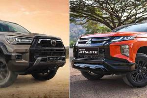 New 2021 Mitsubishi Triton Athlete vs Toyota Hilux Rogue: battle for the best pick-up truck