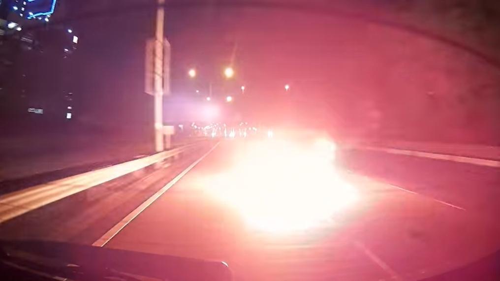 Malaysian driver avoids Molotov Cocktail