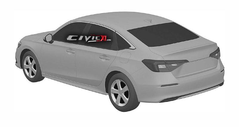 Intipan: 2022 Honda Civic sedan generasi baru. Baby Accord? 02