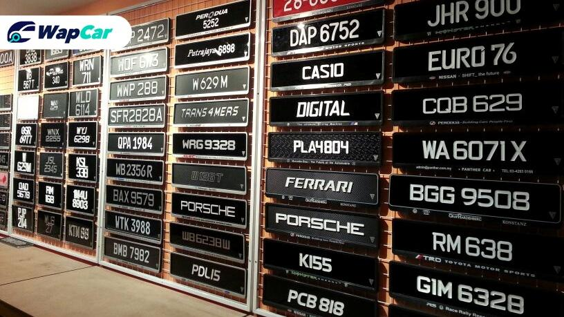 You can now make a complain about fancy car number plates to JPJ's complain centre  01