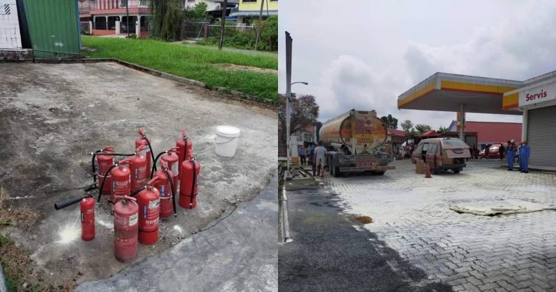 Underground tank in Sibu Shell Station catches fire; One employee injured 02