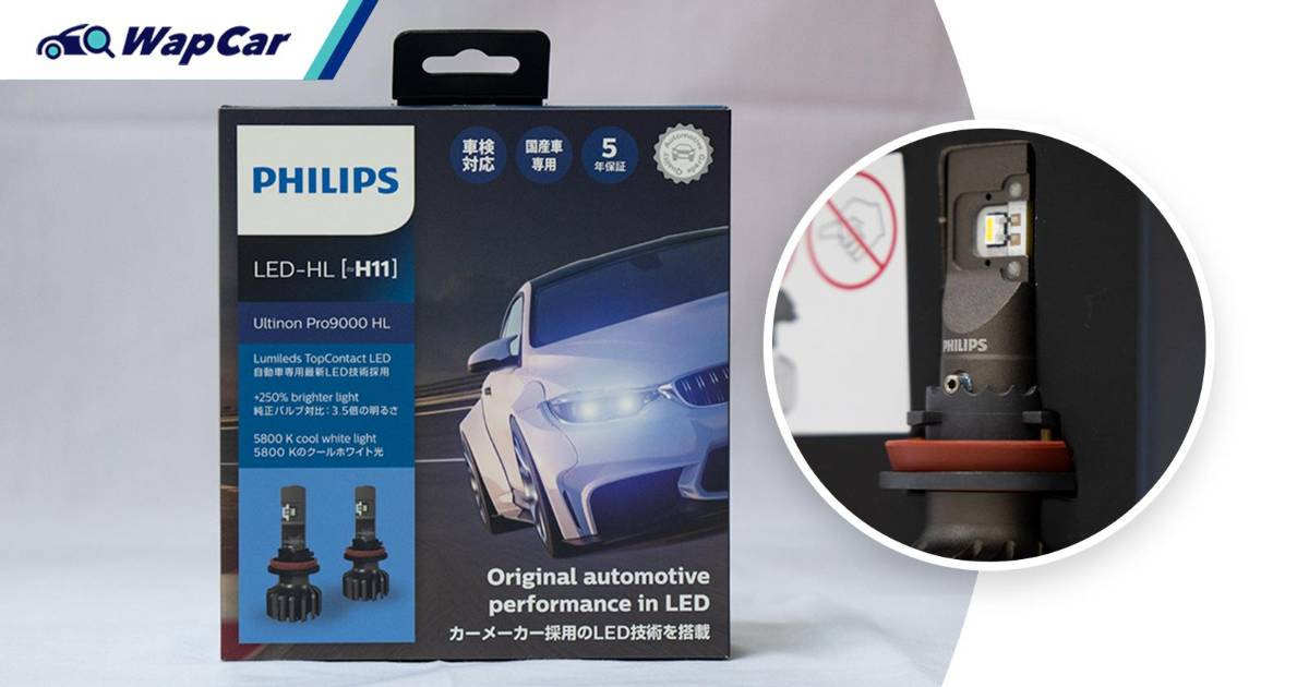 Philips Ultinon Pro9000 LED - 250% brighter lights that enhances visibility without dazzling others 01