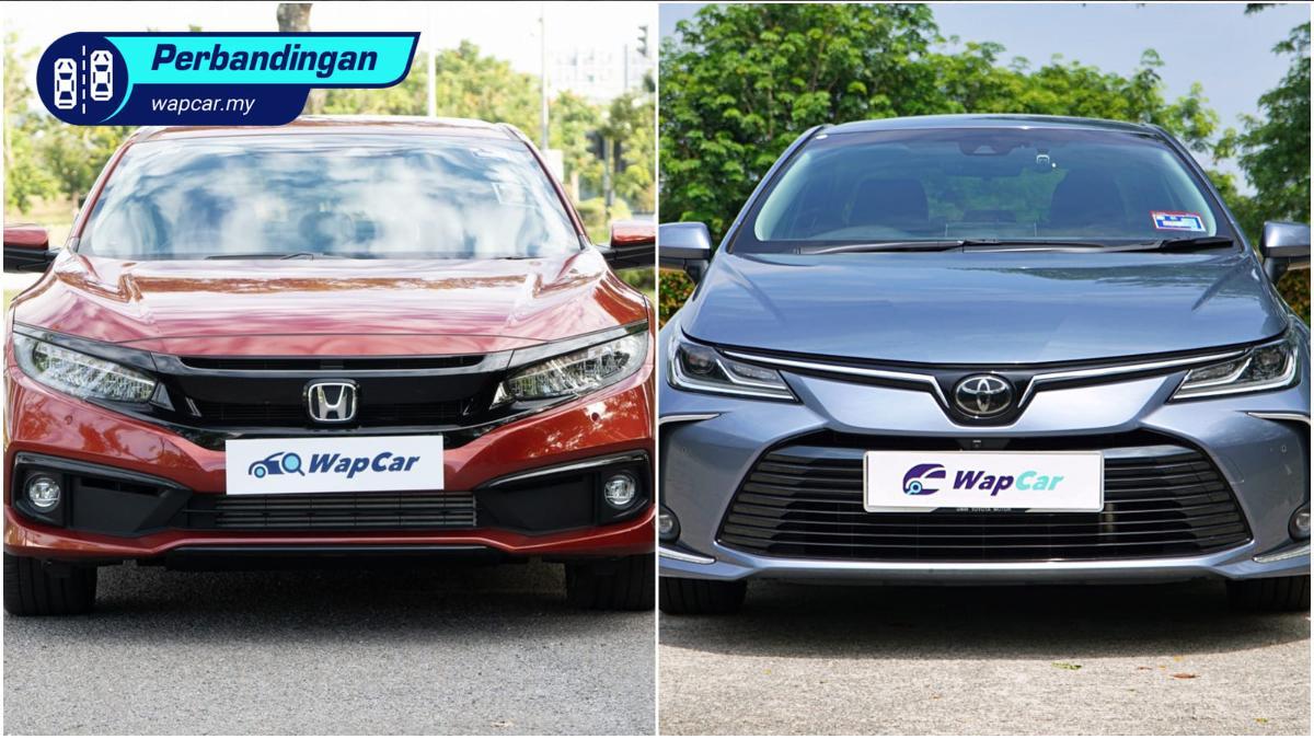 Honda Civic 1.5 TC-P vs Toyota Corolla Altis 1.8 G – mana lebih berbaloi? 01