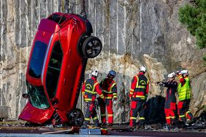 Volvo performs 30 metre vertical crash test all in the name of safety