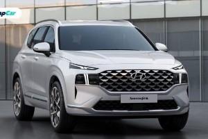 Hyundai Santa Fe 2021 baharu, lampu jadi tumpuan