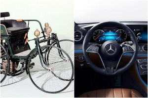 The first-ever steering wheel was invented by Mercedes-Benz for racing
