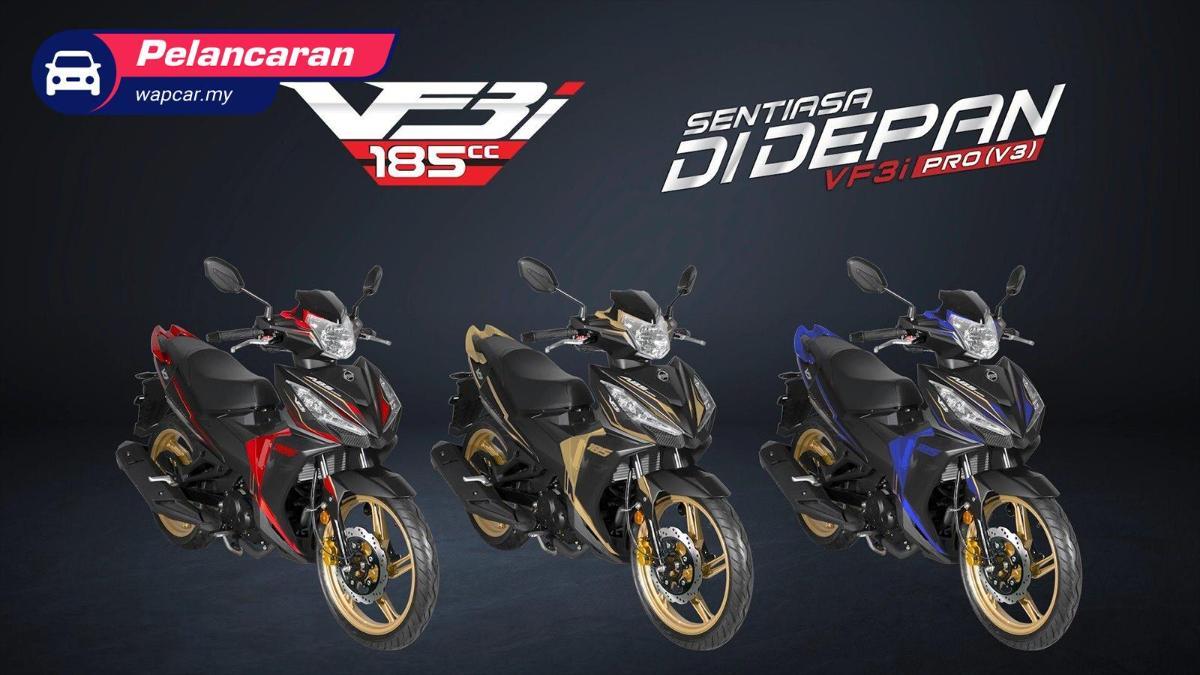 2020 SYM VF3i Pro generasi ke 3 dilancarkan. Moped 185 cc, harga cuma RM 9,338! 01