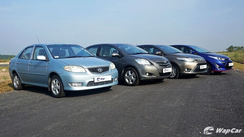 All generations Toyota Vios