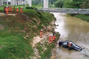 Audi A6 driver fell asleep at the wheel before the car plunged into river