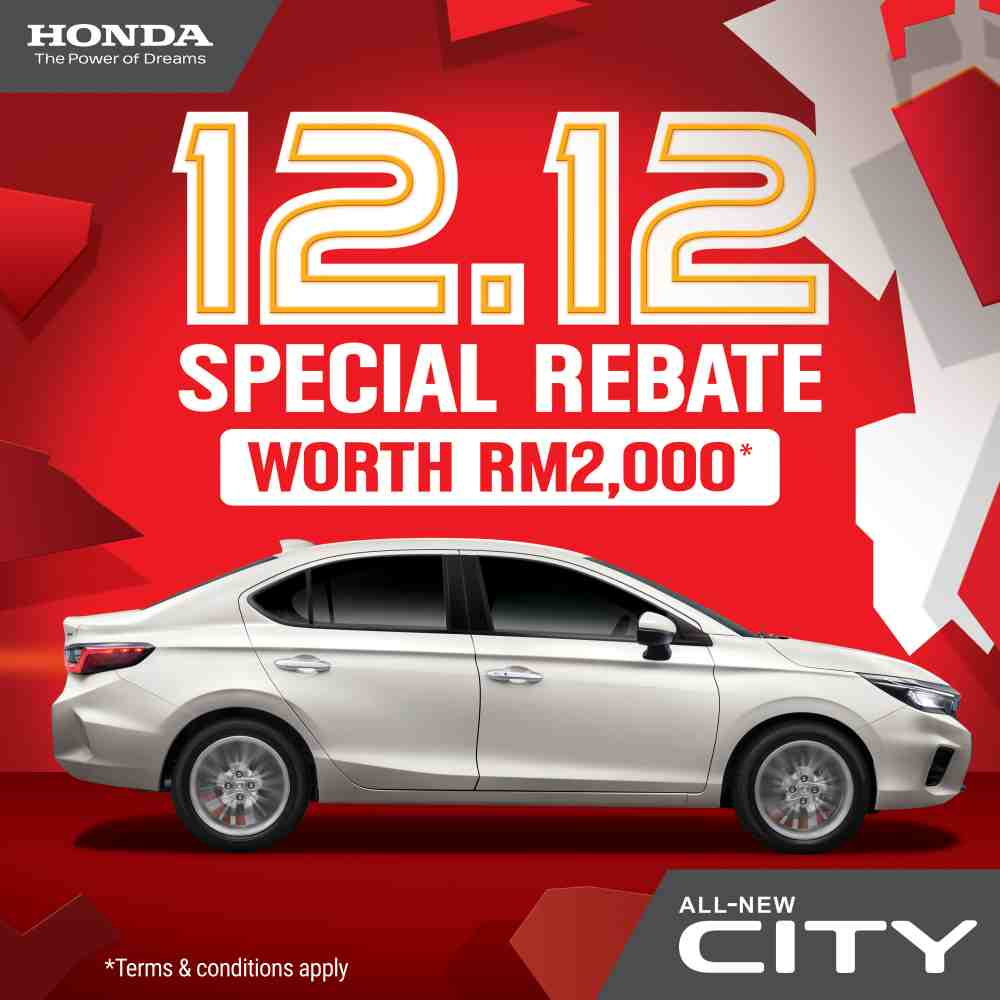 RM 2,000 rebate for 2020 Honda City E and S variants during Honda's 12.12 sale 02