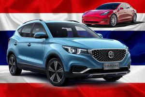 Over 1,000 EVs registered in Thailand in 2020, MG ZS EV more popular than Tesla