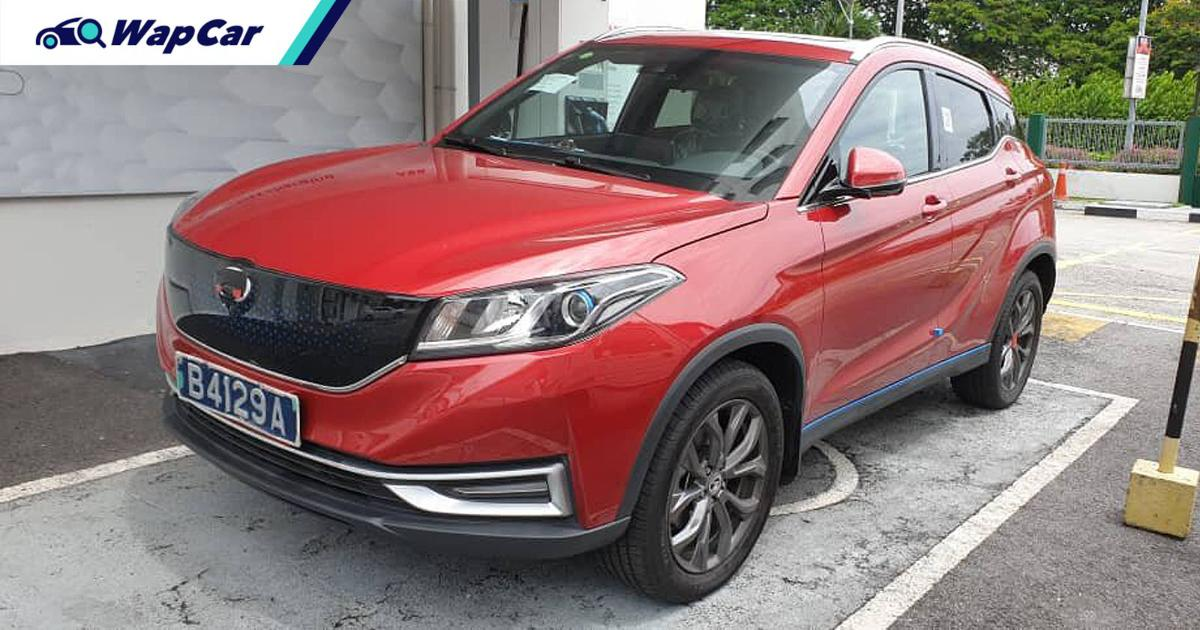 New Chinese EV spotted in Malaysia, DFSK Glory EV3 charging at Sunway 01