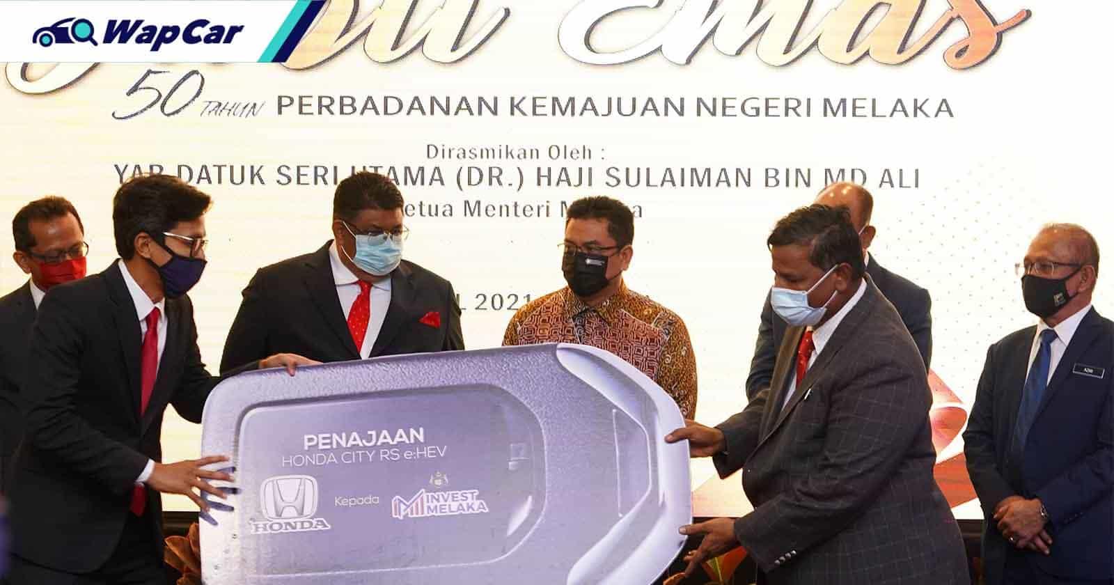 Honda Malaysia salurkan Honda City RS e:HEV kepada Invest Melaka Berhad (IMB) 01