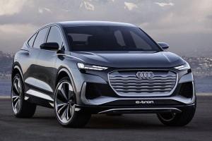 Audi Q4 Sportback e-tron concept debuts, over 500 km of electric range