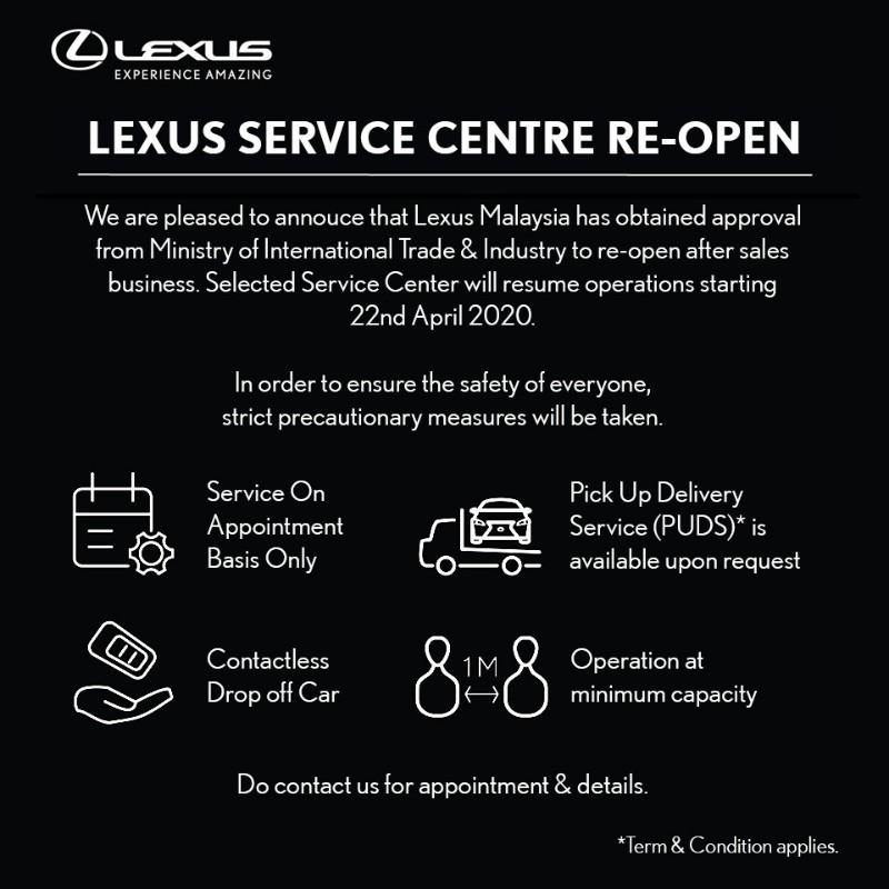Lexus Malaysia service centres resume operations