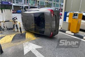Proton Saga terbabas, bukan jatuh bangunan