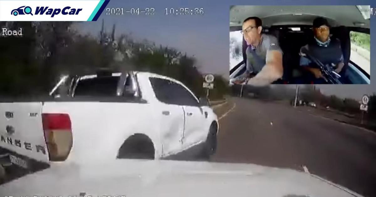 Watch: Unseen dashcam footage of cash-in-transit vehicle getting shot in South Africa 01