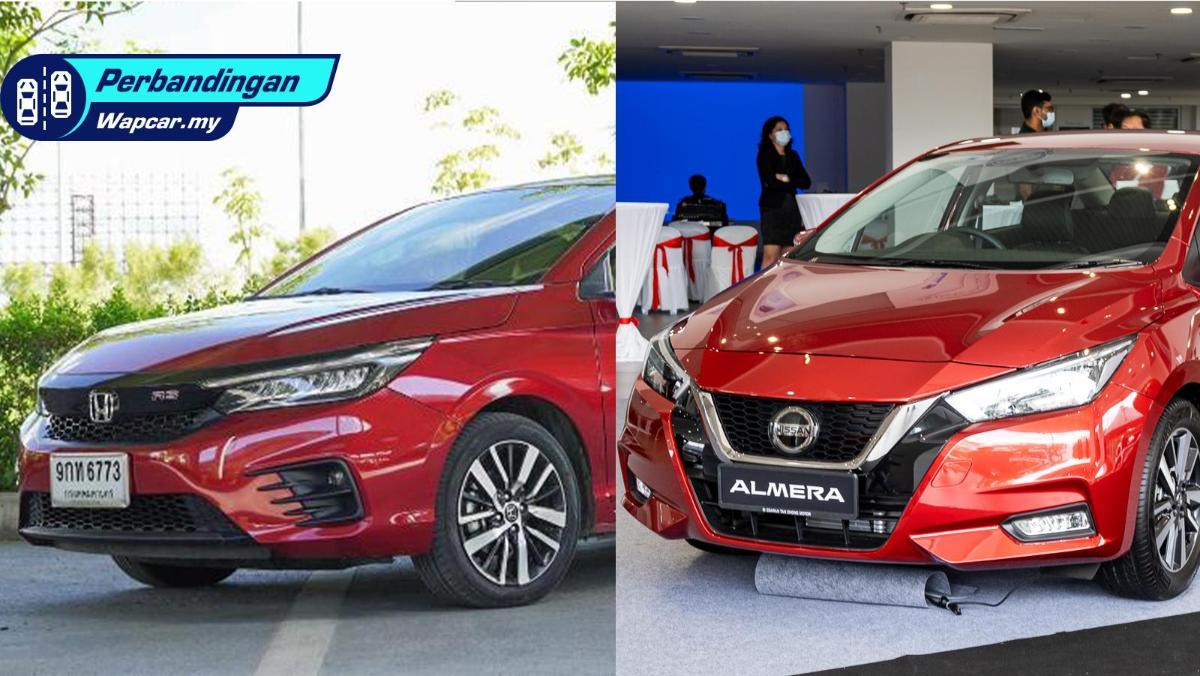 Honda City vs Nissan Almera: Perbandingan saiz dan fungsi keselamatan! 01