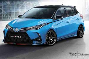 If the 2021 Toyota Yaris looks too tame for you, Drive68 will aggressive-fy it for you