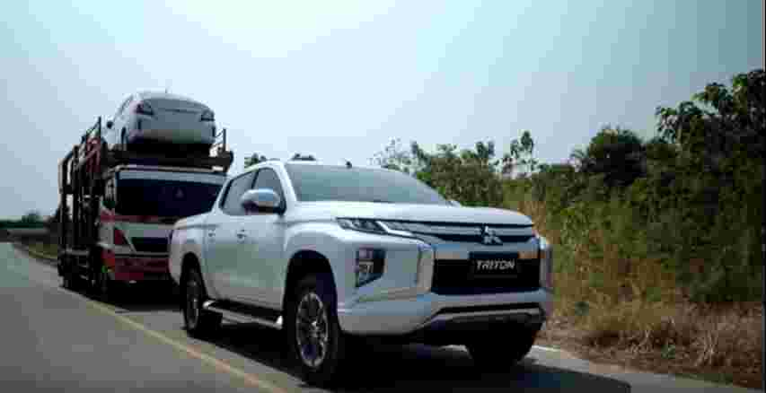 Watch this Mitsubishi Triton pull a load of over 19,000 kg!