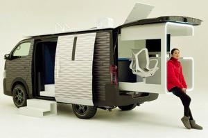 Why WFH when you can work from van in this Nissan Caravan Office Pod?