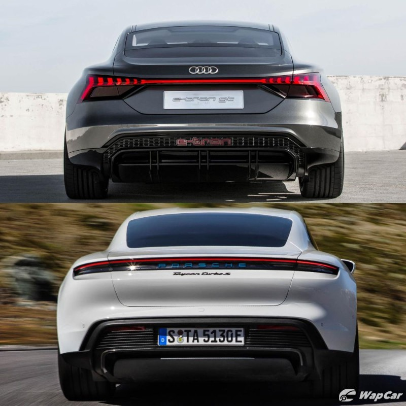 Is The Audi E-tron GT Just A Porsche Taycan With A