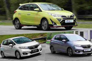 Honda Jazz Hybrid vs Honda Jazz V vs Toyota Yaris; combing through the spec sheet