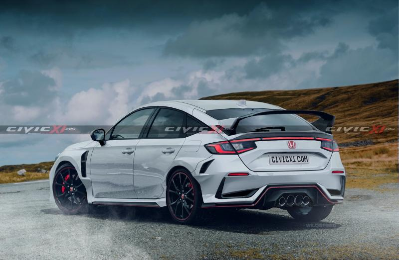 2022 Honda Civic Type R hadir dengan imej 'render'. Kekal sporty? 02