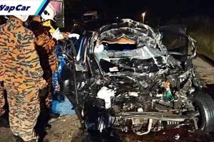 Perodua Myvi potong tak lepas, bertembung treler di Bentong-Raub. 4 maut