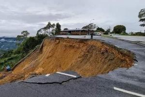 Kinabalu Park car park collapses in massive landslide