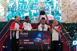 Winner of Toyota Gazoo Racing eSports Championship walks home with RM 20,000 cash!