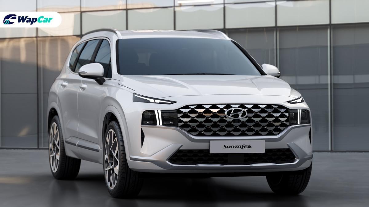 Hyundai Santa Fe 2021 baharu, lampu jadi tumpuan 01