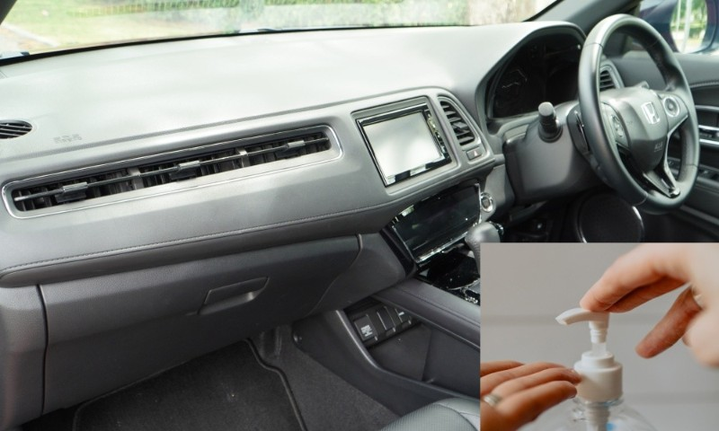 Can you use alcohol sanitizers to clean car interior