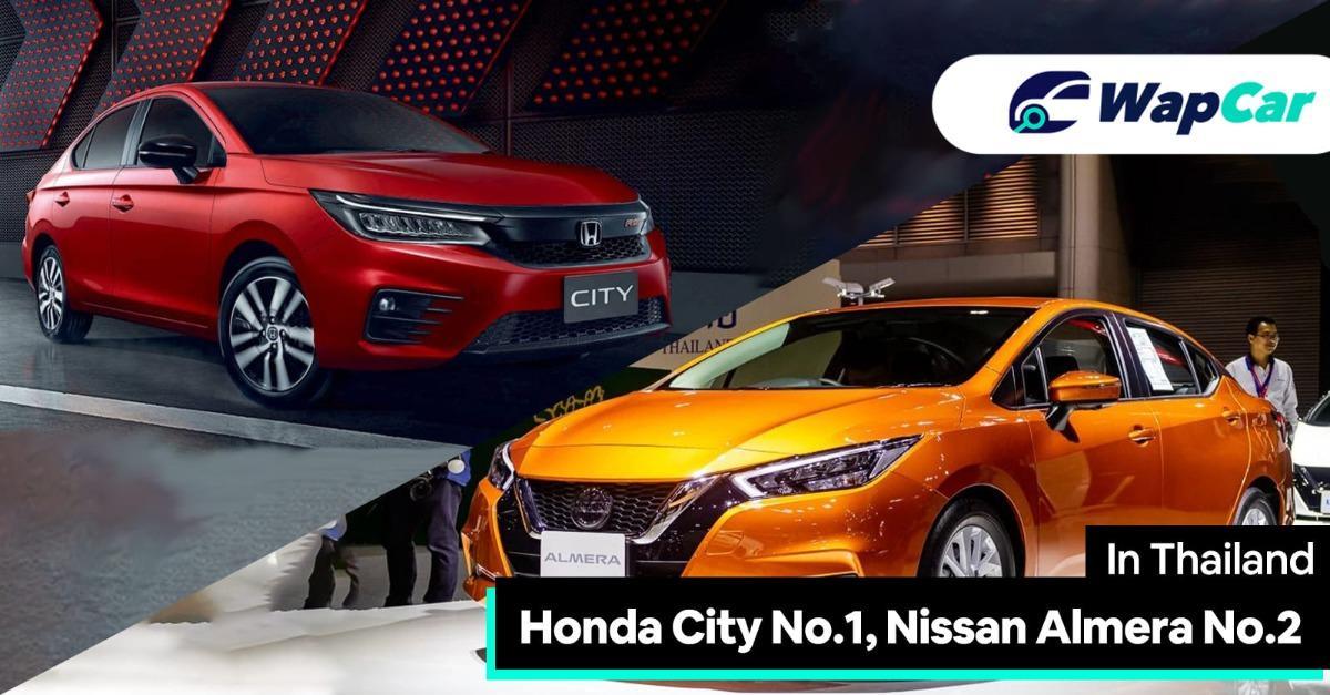 2020 Honda City turbo is the best-selling B-seg sedan in Thailand, Nissan Almera No.2 01