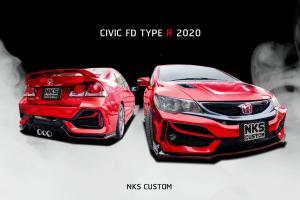 Minat Honda Civic Type R FK8 tapi pakai FD? Tukar kit badan FK8 je!