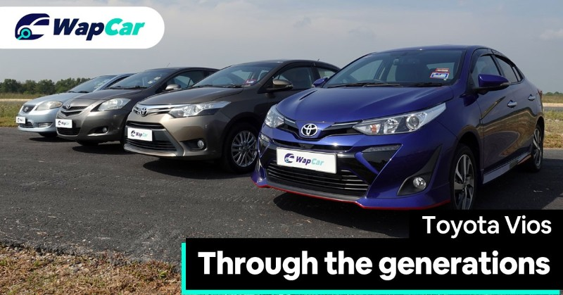 Toyota Vios through the generations
