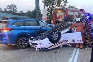 8 years jail for suspects that caused fatal Aruz-Waja-Myvi cop car crash in Johor