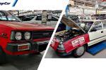 Toyota Corolla KE70 dan AE90 ini masih dijaga dengan baik, diselenggara oleh pengedar Toyota