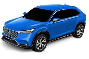 Rendered: All-new 2021 Honda HR-V patent colourised, global debut next week