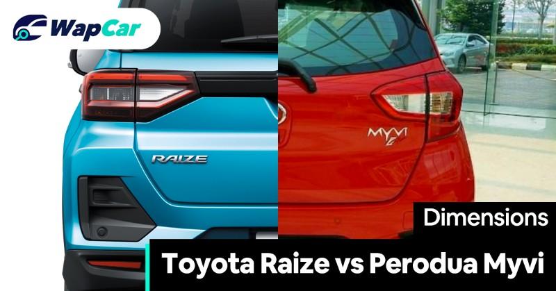 Toyota Raize vs Perodua Myvi