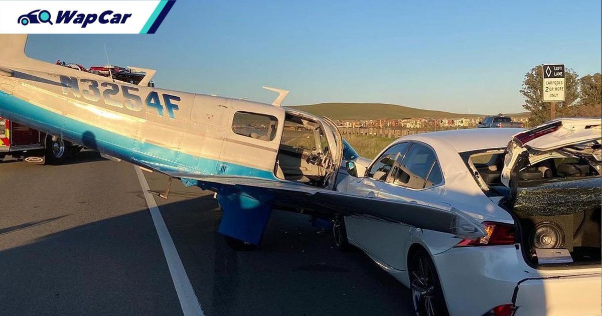 Plane T-bones Lexus IS, how do you explain that to the insurance company? 01