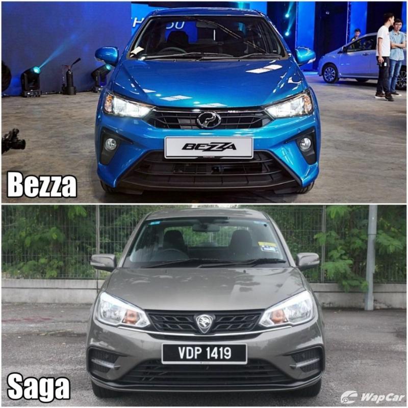 2020 Perodua Bezza vs 2019 Proton Saga - front view
