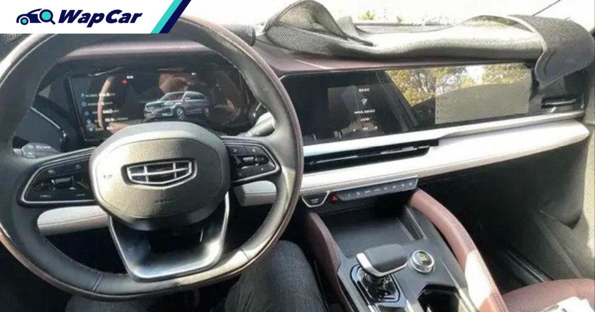 Geely KX11 new flagship SUV will get a passenger display screen like a Porsche Taycan! 01