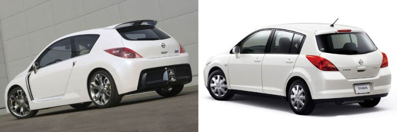 Nissan Sport Concept and Nissan Latio or Tiida