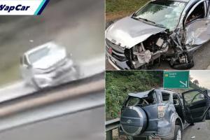 Perodua Axia lawan arus untuk elak sekatan jalan raya, nak balik kampung