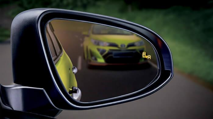 Toyota Yaris most affordable car with blind spot monitor