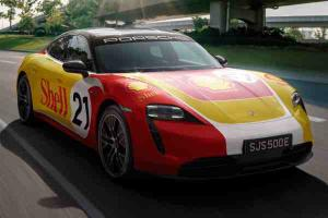 With Shell's DC fast chargers, you can drive a Porsche Taycan from Penang to Singapore